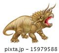 恐竜 トリケラトプス イラストのイラスト 15979588