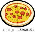 ベクター ペパロニピザ アイコンのイラスト 15980151