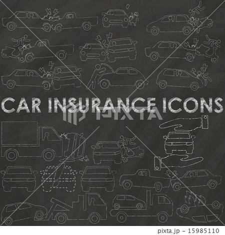 car insurance on chalkのイラスト素材 15985110 pixta