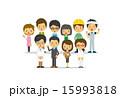 職業 ベクター 働く人々のイラスト 15993818