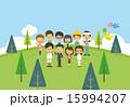 人々【二頭身・シリーズ】 15994207