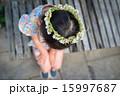シロツメクサ 子供 花の写真 15997687