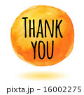 Thank you card with orange watercolor circle 16002275