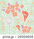 Flower or Floral and leaf pattern pastel green 16004608