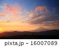 大涌谷富士夕景 16007089