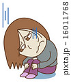 落ち込む 鬱病 へこむのイラスト 16011768