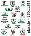 Billiards, snooker and pool emblems 16011858