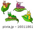 Cute cheerful cartoon caterpillars characters 16011861