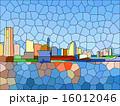 氷川丸から見る横浜(ステンドグラス) 16012046