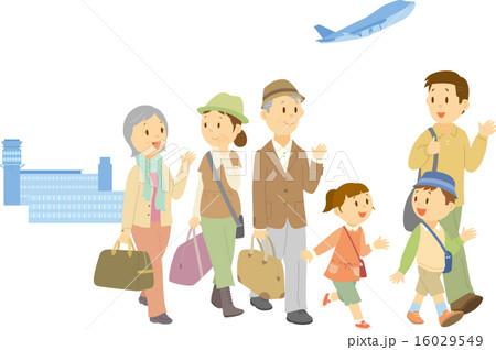 旅行に出掛ける三世代家族の写真素材 [16029549] - PIXTA