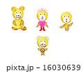家族 熊 擬人化のイラスト 16030639