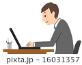 デスクワーク ビジネスマン 男性のイラスト 16031357