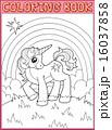 動物 ユニコーン 一角獣のイラスト 16037858