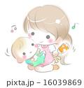 子育て 寝かしつけ 親子のイラスト 16039869