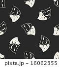 doodle mask seamless pattern background 16062355