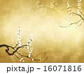 和の背景-金箔-梅 16071816