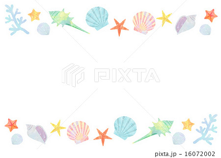 貝のフレームのイラスト素材 16072002 Pixta