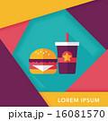 hamburger and soda flat icon with long shadow,eps10 16081570