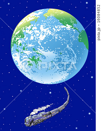 銀河鉄道のイラスト素材 16084852 Pixta
