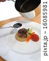 大根と牛肉のステーキの盛り付け 16085981