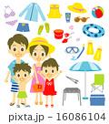 レジャー用品 ベクター 家族のイラスト 16086104
