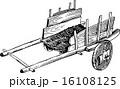 木製 カート 台車のイラスト 16108125