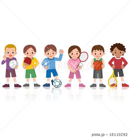 スポーツをする子供たち 16110292