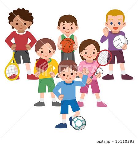スポーツをする子供たち 16110293
