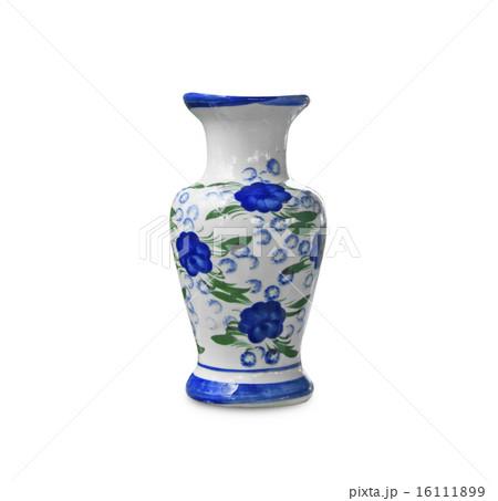 Ceramic vase flower patternの写真素材 [16111899] - PIXTA