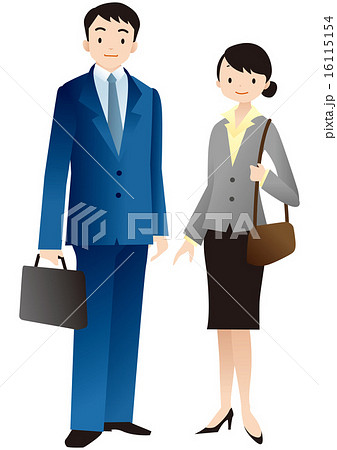 businessman and businesswoman 16115154