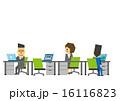 デスクワーク ビジネスシーン OLのイラスト 16116823