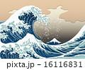波しぶき ベクター 葛飾北斎のイラスト 16116831