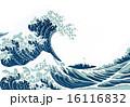 波しぶき ベクター 葛飾北斎のイラスト 16116832