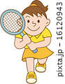 テニス 女の子 イラスト 16120943