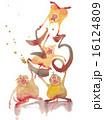 年賀状素材 申 申年のイラスト 16124809