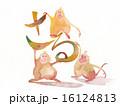 年賀状素材 申 申年のイラスト 16124813