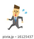 スーツの男性【フラット人間・シリーズ】 16125437