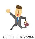スーツの男性【フラット人間・シリーズ】 16125900