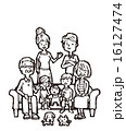 三世代 ベクター 白バックのイラスト 16127474