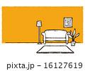 ソファ 部屋 リビングルームのイラスト 16127619