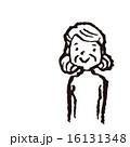 線画 中高年 ベクターのイラスト 16131348