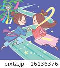 七夕祭り 織姫 彦星のイラスト 16136376