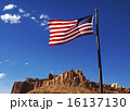 US Flag with  sandstone formation 16137130