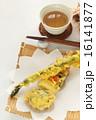 野菜天ぷらと麦茶 16141877