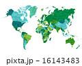 地図 世界地図 大陸のイラスト 16143483