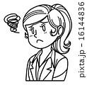 困る ベクター 人物のイラスト 16144836