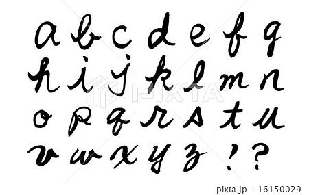 筆文字 a~z筆記体小文字.n