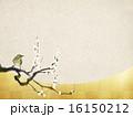 和の背景-和紙-梅 16150212