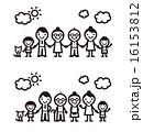 シンプルな家族のイラスト 16153812