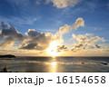 サンセット 海岸 水平線の写真 16154658